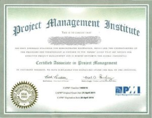 Certified associate project management